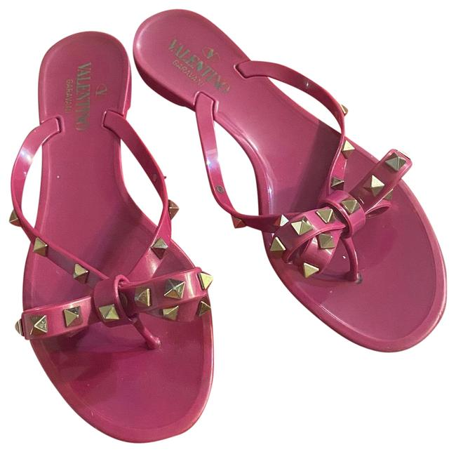 Item - Fuchsia Rockstud Sandals Size US 7.5 Regular (M, B)