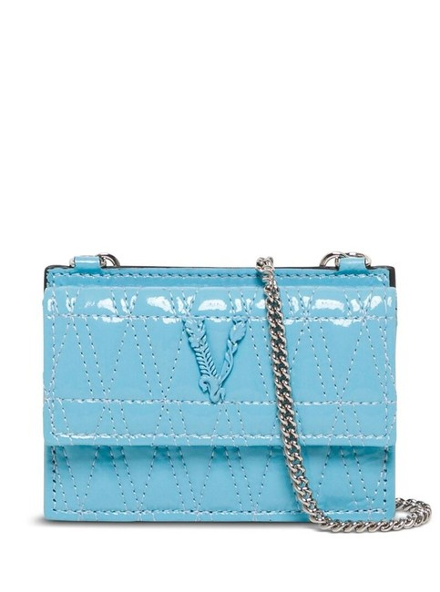 Item - Blue Virtus Quilted Chain Wallet