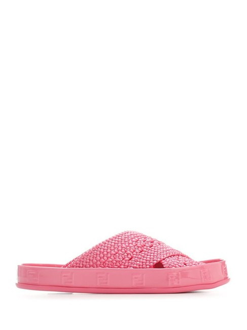 Item - Pink Reflections Woven Lace Slides Sandals Size EU 41 (Approx. US 11) Regular (M, B)