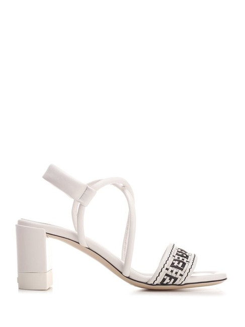 Item - White Ff Interlace Sandals Size EU 36.5 (Approx. US 6.5) Regular (M, B)