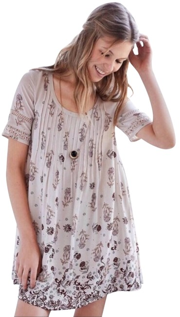 Item - Cream XS Floral Babydoll Short Casual Dress Size 2 (XS)