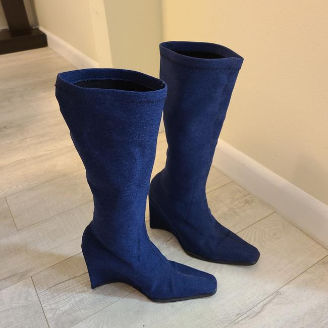 Item - Blue Plaint Boots/Booties Size US 5 Extra Wide (Ww, Ee)