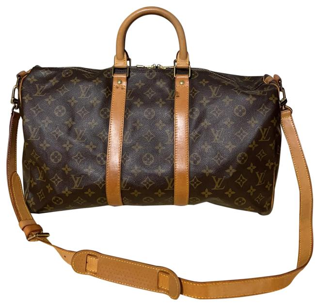 Item - Keepall Monogram Bandouliere 45 Carry On Brown Canvas Weekend/Travel Bag