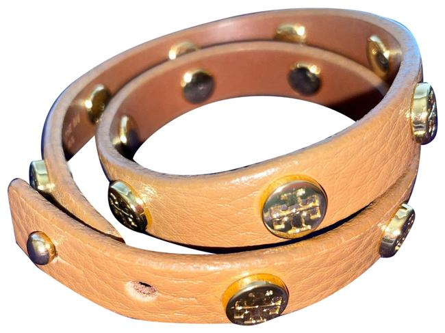 Item - Tan Leather Double Wrap Bracelet
