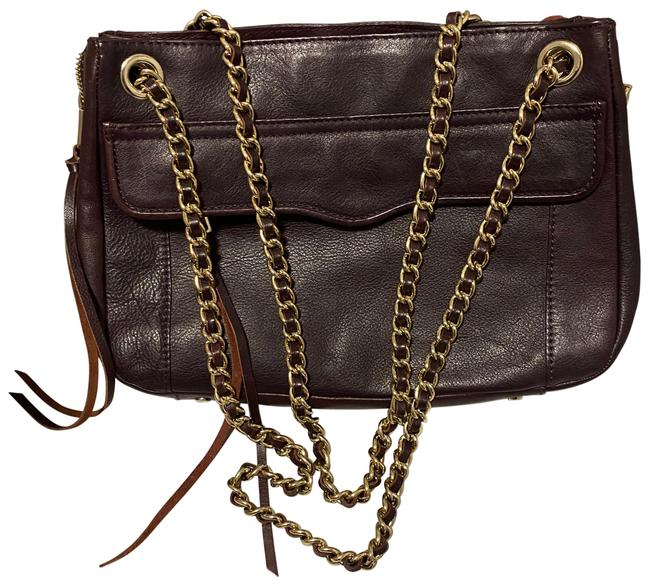 Item - Shoulder 'swing' Double Chain Burgundy Leather Cross Body Bag