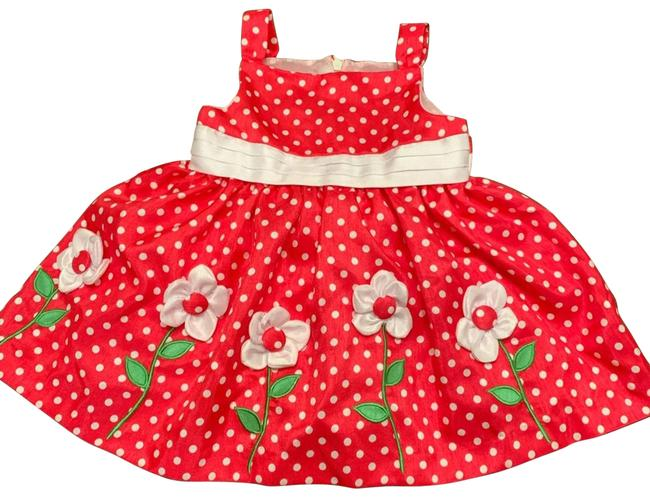 Item - Red Girl Hot Pink Baby Size12m Short Casual Dress Size OS (one size)