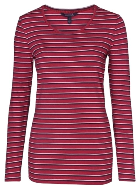 Preload https://item5.tradesy.com/images/long-sally-talllts-rose-pink-and-red-stripe-t-shirt-2911099-0-0.jpg?width=400&height=650