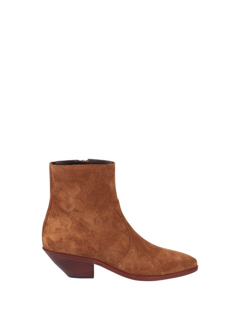 Item - Brown West 45 In Calf Leather Boots/Booties Size EU 37 (Approx. US 7) Regular (M, B)