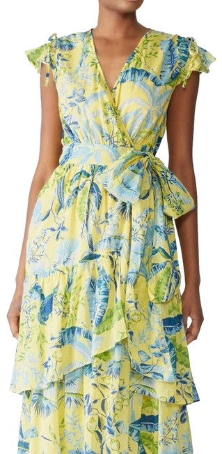 Item - Green Floral Yellow Sundress Mercy Casual Maxi Dress Size 8 (M)