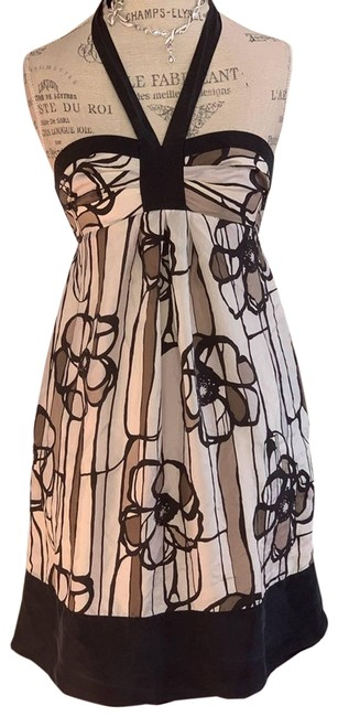 Item - Brown XS Bcbg Floral Mini Short Casual Dress Size 2 (XS)