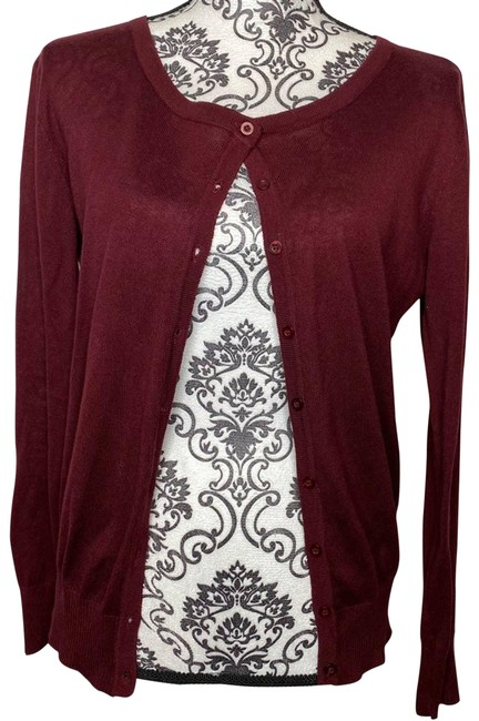 Item - Red XL Maroon Button Cover Up Cardigan Size 16 (XL, Plus 0x)