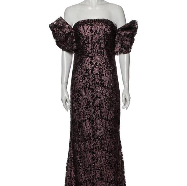 Item - Black Purple Pink Metallic Ask Me Any Additional Questions Leanne Gown Formal Bridesmaid/Mob Dress Size 8 (M)