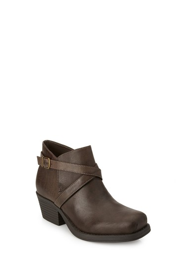 Other Buckled Moto Burgundy Boots