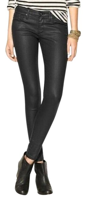 Item - Black Coated Absolute Extreme Skinny Jeggings Size 2 (XS, 26)