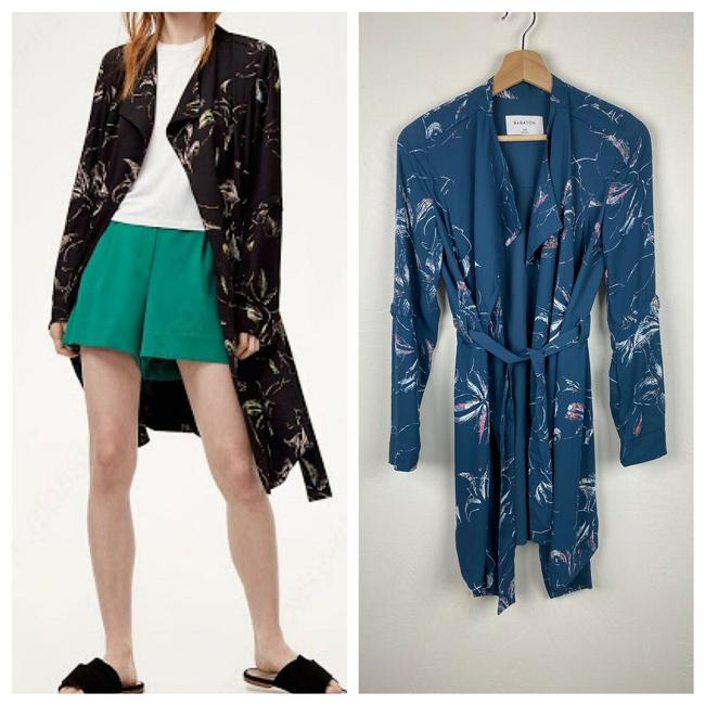 Item - Oil Blue Printed Quincey Jacket Size 00 (XXS)