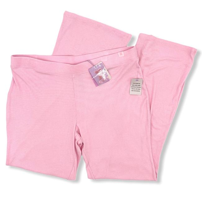 Item - Pink Womens Ribbed Lounge Pants Size 22 (Plus 2x)