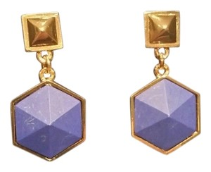 Tory Burch TORY BURCH ZANDER DANGLE DROP BLUE GOLD EARRINGS #32135554 NEW ON TAG $165