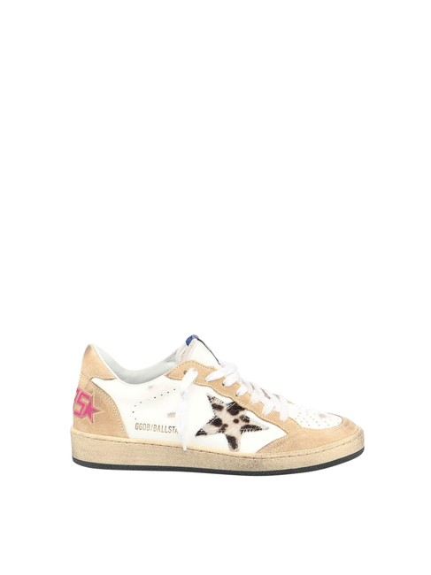 Item - Brown Ball Star Leather Upper Horsy Leopard Star In Calf Leather Sneakers Size EU 35 (Approx. US 5) Regular (M, B)