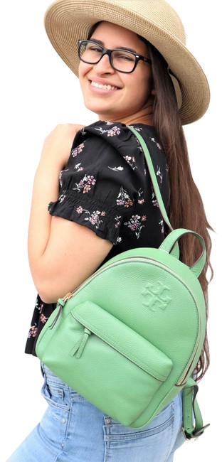 Item - Thea Pebble Green Leather Backpack