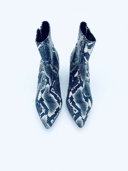 AllSaints Grey Black Aster Snake Print Leather Western Ankle Boots/Booties Size EU 39 (Approx. US 9) Regular (M, B) AllSaints Grey Black Aster Snake Print Leather Western Ankle Boots/Booties Size EU 39 (Approx. US 9) Regular (M, B) Image 3