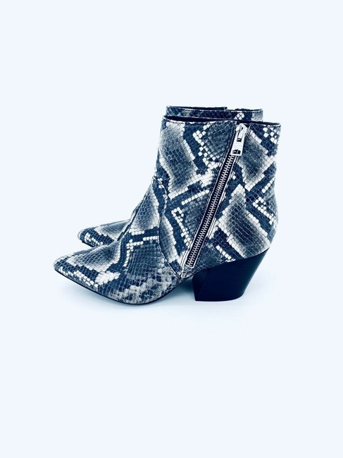 AllSaints Grey Black Aster Snake Print Leather Western Ankle Boots/Booties Size EU 39 (Approx. US 9) Regular (M, B) AllSaints Grey Black Aster Snake Print Leather Western Ankle Boots/Booties Size EU 39 (Approx. US 9) Regular (M, B) Image 5