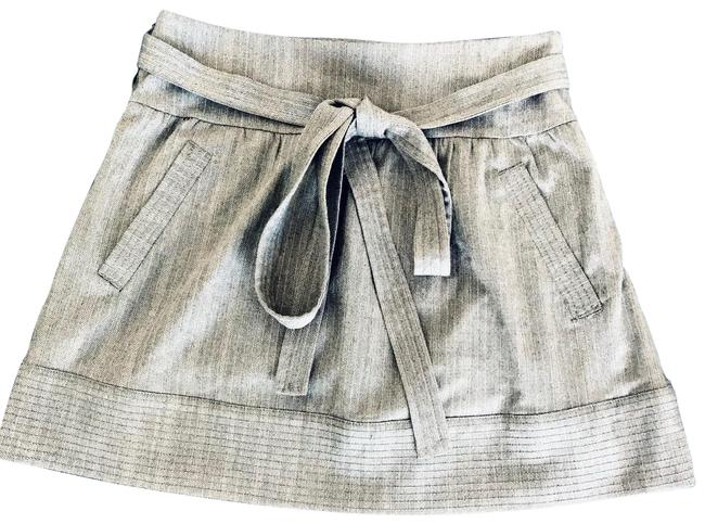 Item - Gray Pinstripe Nwot A-line Skirt Size 4 (S, 27)
