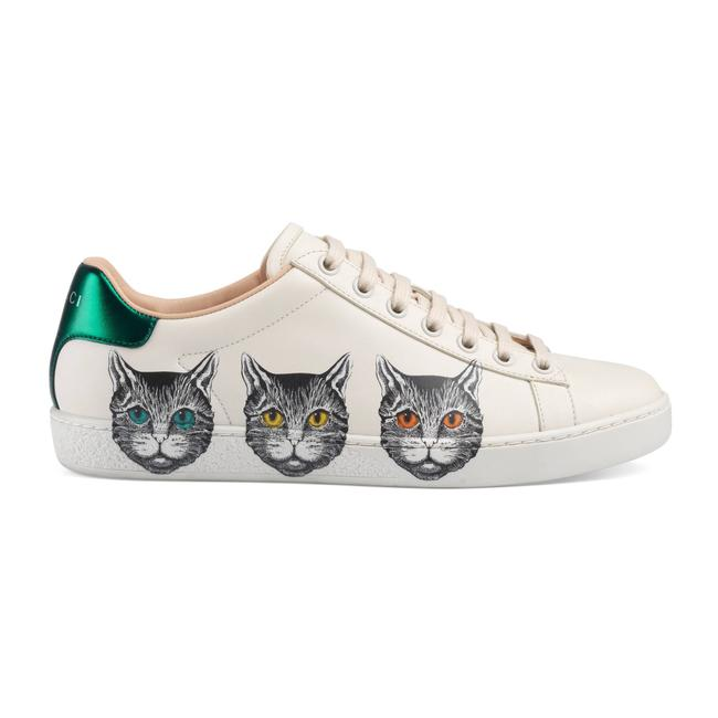 Item - White 577147 Ace Mystic Cat Leather Sneakers Size EU 35.5 (Approx. US 5.5) Regular (M, B)