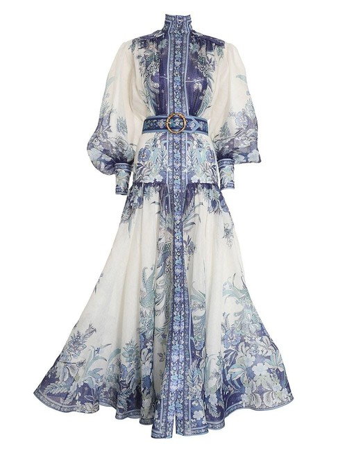 Item - Glassy Billow High-neck Long Casual Maxi Dress Size 4 (S)