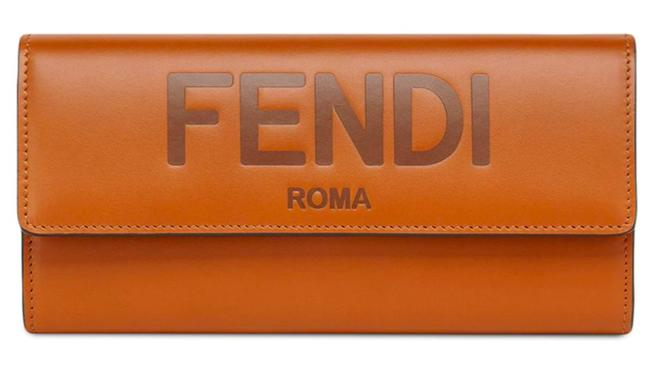 Item - New Logo Roma Continental Wallet Brown Leather Clutch