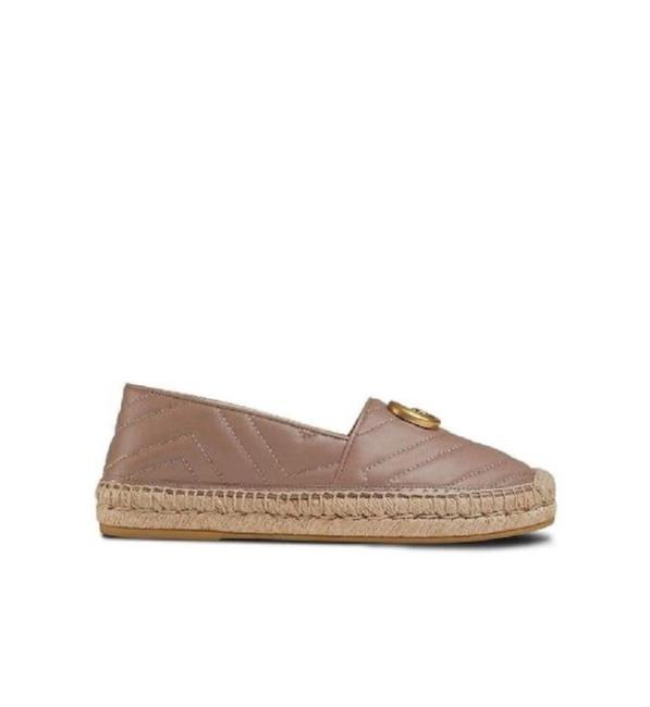 Item - Marmont Pink 551890 Double G Leather Espadrille Flats Size EU 35.5 (Approx. US 5.5) Regular (M, B)