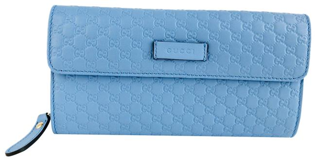 Item - Mineral Blue ssima Embossed Micro Gg Folding Logo Leather Wallet