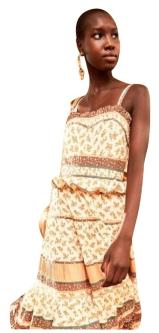 Item - Brown Cream Cecilie In Multi Mid-length Casual Maxi Dress Size 4 (S)
