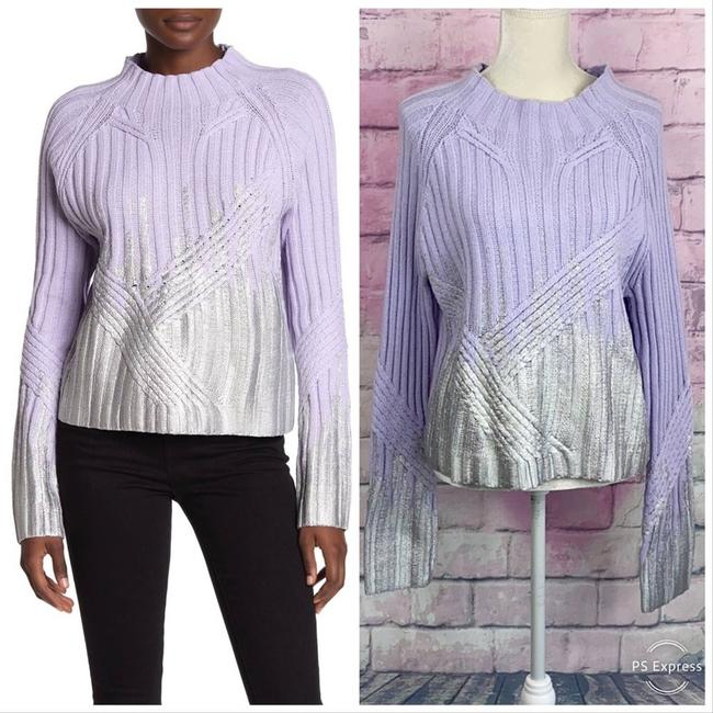 Item - Summit Ritzy Metallic Knit Purple Sweater