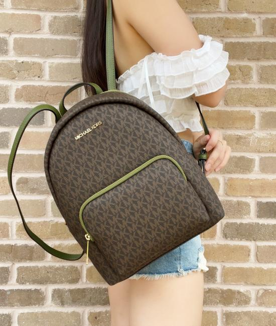 Item - Abbey Medium Signature Mk Logo Evergreen Brown Backpack
