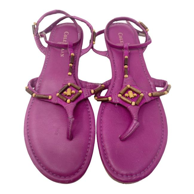 Item - Pink Beaded Thong Leather Sandals Size US 9.5 Regular (M, B)