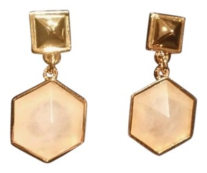 Tory Burch TORY BURCH ZANDER DANGLE DROP LIGHT PINK and GOLD EARRINGS #32135554 NEW $165.