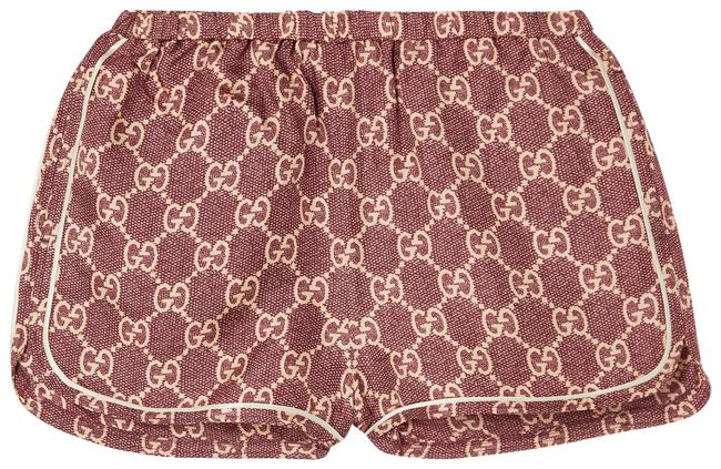 Item - Pink Piped Printed Silk-twill Activewear Bottoms Size 00 (XXS, 24)