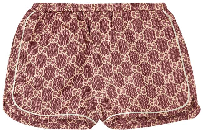 Item - Pink Piped Printed Silk-twill Activewear Bottoms Size 8 (M, 29, 30)