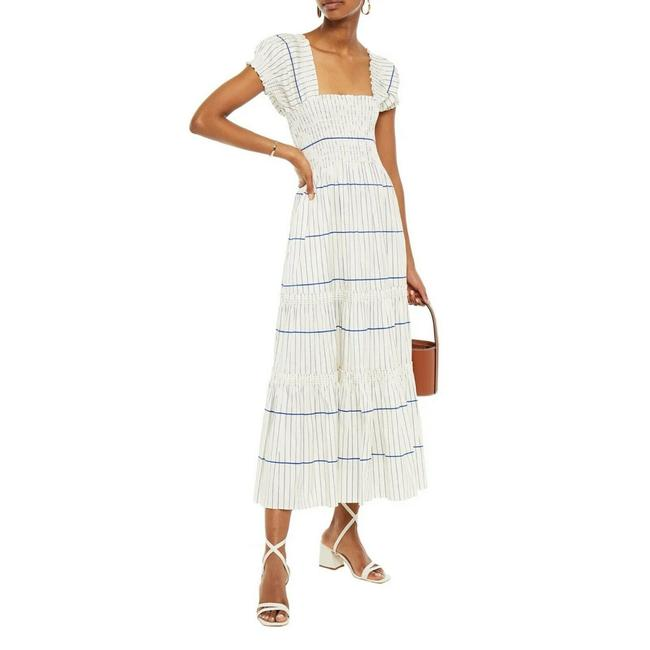Item - Striped Long Casual Maxi Dress Size 12 (L)