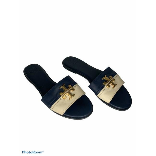 Item - Blue Everly Slide Sandal Perfect Navy New Cream New Flats Size US 10 Regular (M, B)
