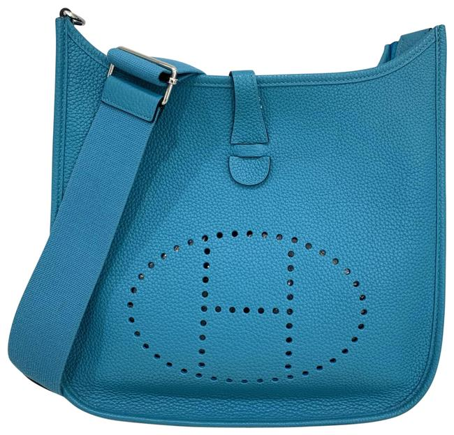 Item - Evelyne Pm Lll Turquise Leather Cross Body Bag