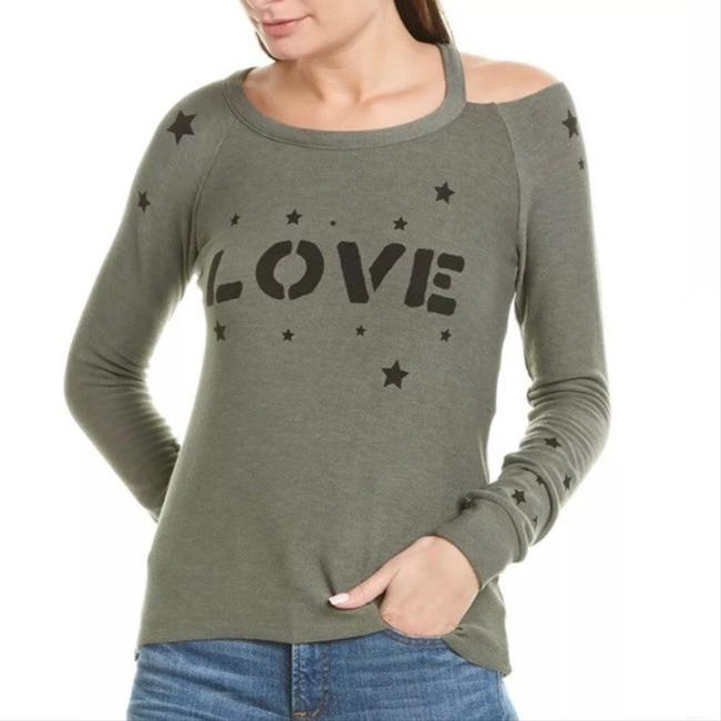 Item - Green Love Stars Cozy Knit Vented Pullover Tee Shirt Size 4 (S)