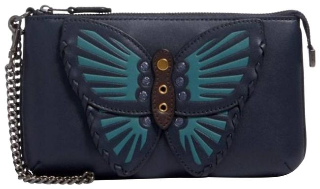 """Item - """"Le"""" with Butterfly Applique Green Wristlet"""