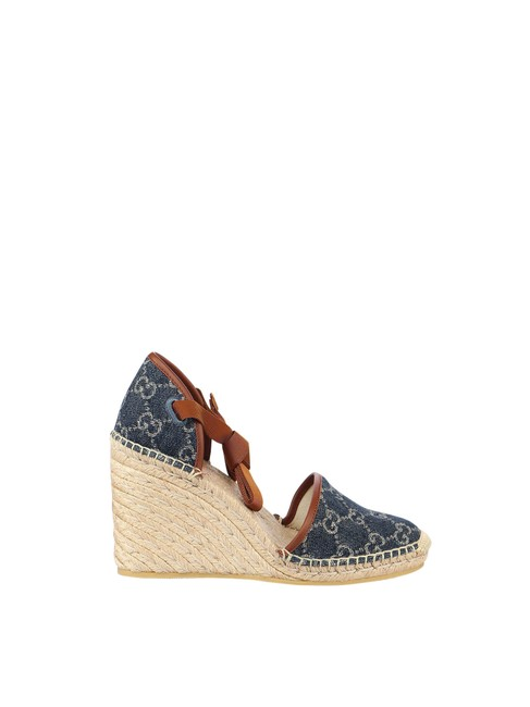 Item - Blue Gg Delave In Cotton Wedges Size EU 36 (Approx. US 6) Regular (M, B)