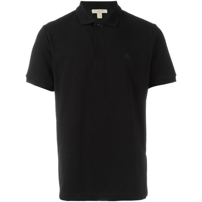 Item - Black New Small Cotton Embroidered Logo Polo Tee Shirt Size 6 (S)