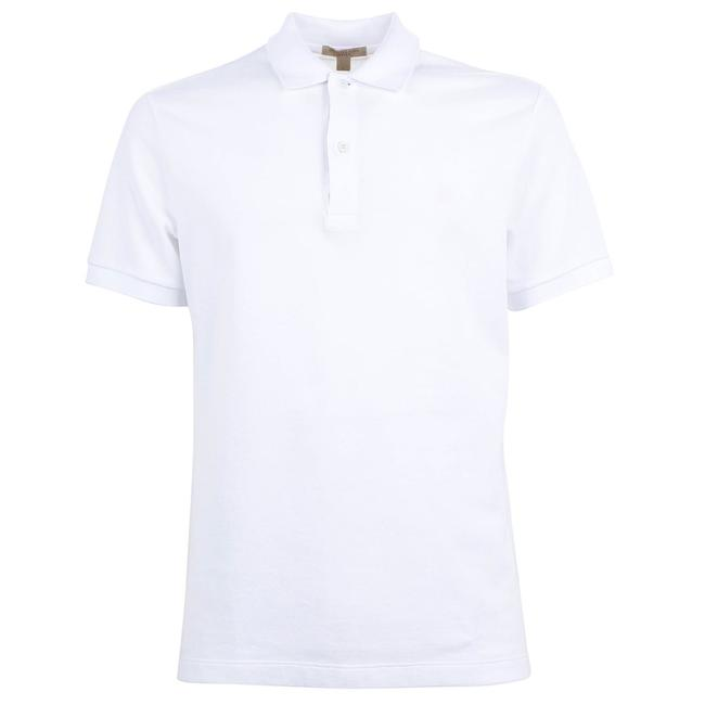 Item - White New Large Cotton Embroidered Logo Polo Tee Shirt Size 14 (L)