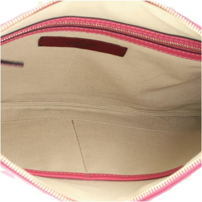 Valentino Rockstud Pouch Large Pink Leather Clutch Valentino Rockstud Pouch Large Pink Leather Clutch Image 5