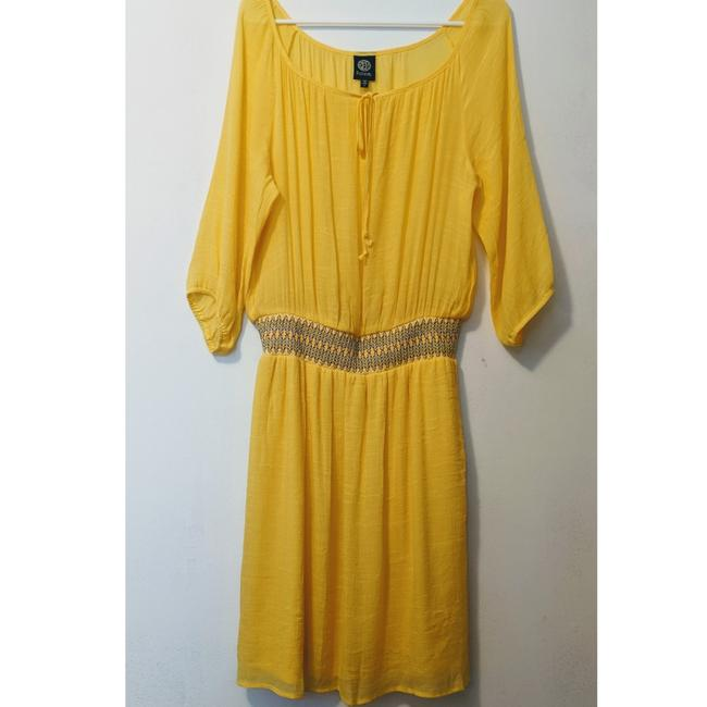 Item - Yellow Mid-length Casual Maxi Dress Size 12 (L)