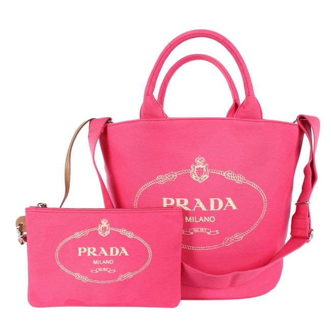 Item - Canapa 9716 Pink Canvas Tote