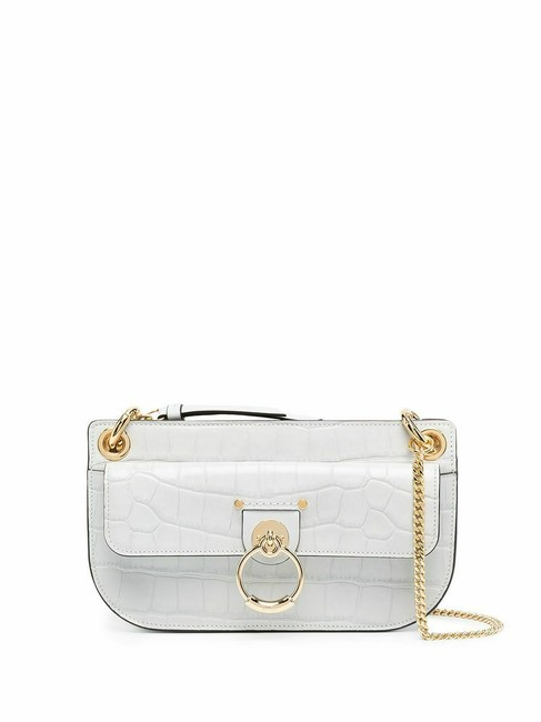 Item - Tess Crocodile-effect Small New Cloudy White Leather Cross Body Bag